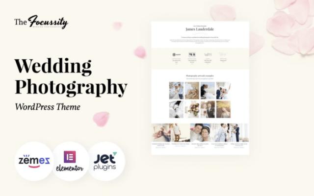 Focussity - Wedding Photography WordPress Theme ladybossblogger.com