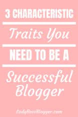 Successful Blogger Characteristic Traits