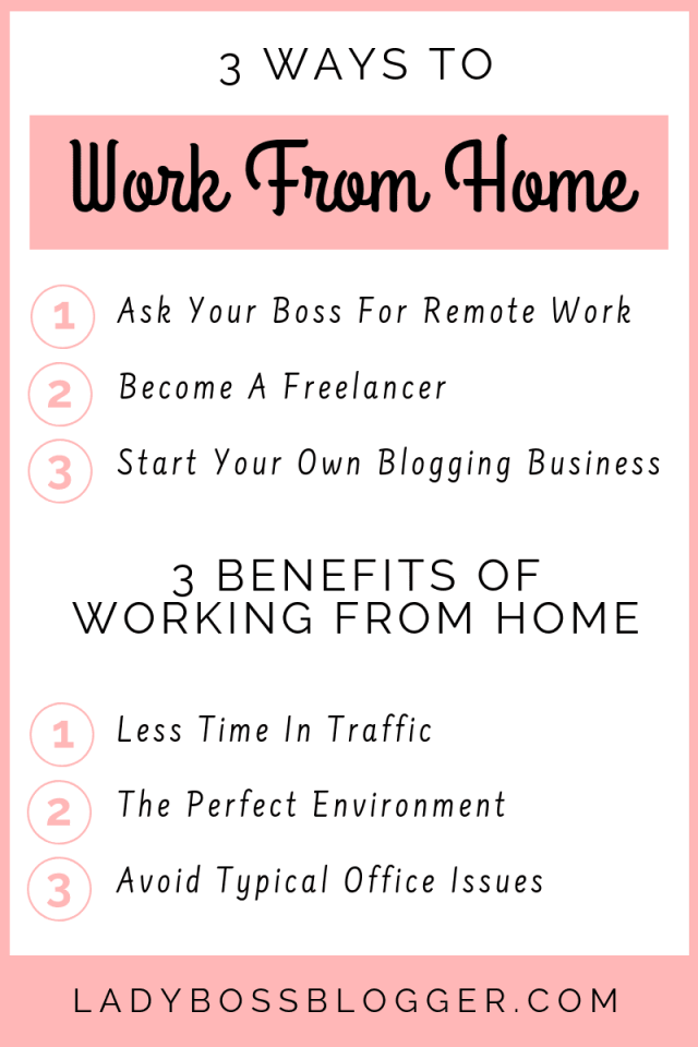 working from home LadyBossBlogger.com