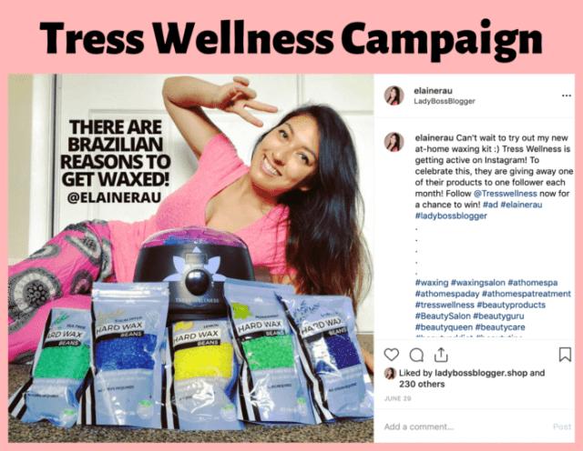 influencer campaign examples elaine rau ladybossblogger