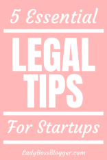 legal tips for startups ladybossblogger