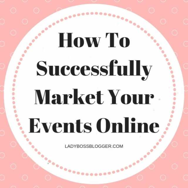 Successfully Market Your Events Online
