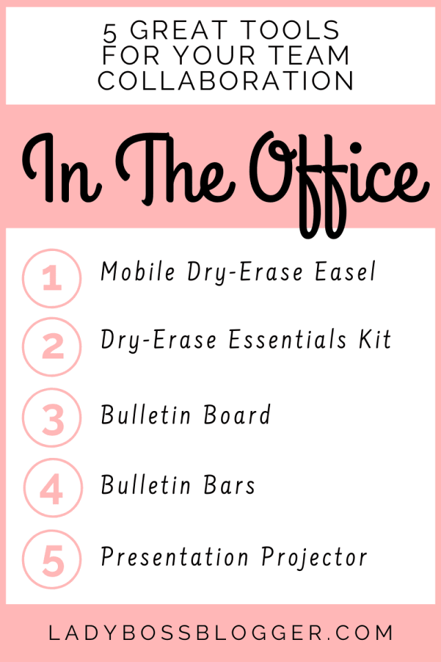 5 Great Tools For Your Team Collaboration In The Office ladybossblogger