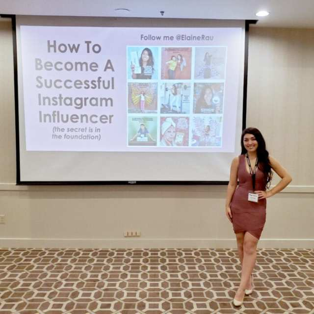 elaine rau bloggy con instagram influencer speech