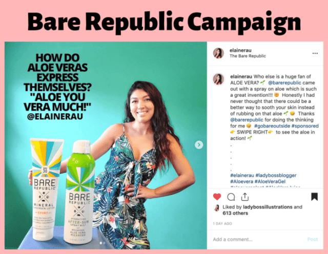 elaine rau influencer campaign2