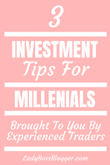 3 Investment Tips For Millennials From Experienced Traders