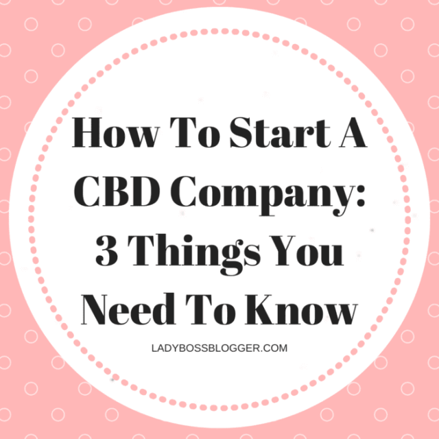 how to start cbd company what you need to know ladybossblogger