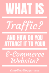 What Is Traffic And How Do You Attract It To Your E-Commerce Site? ladybossblogger