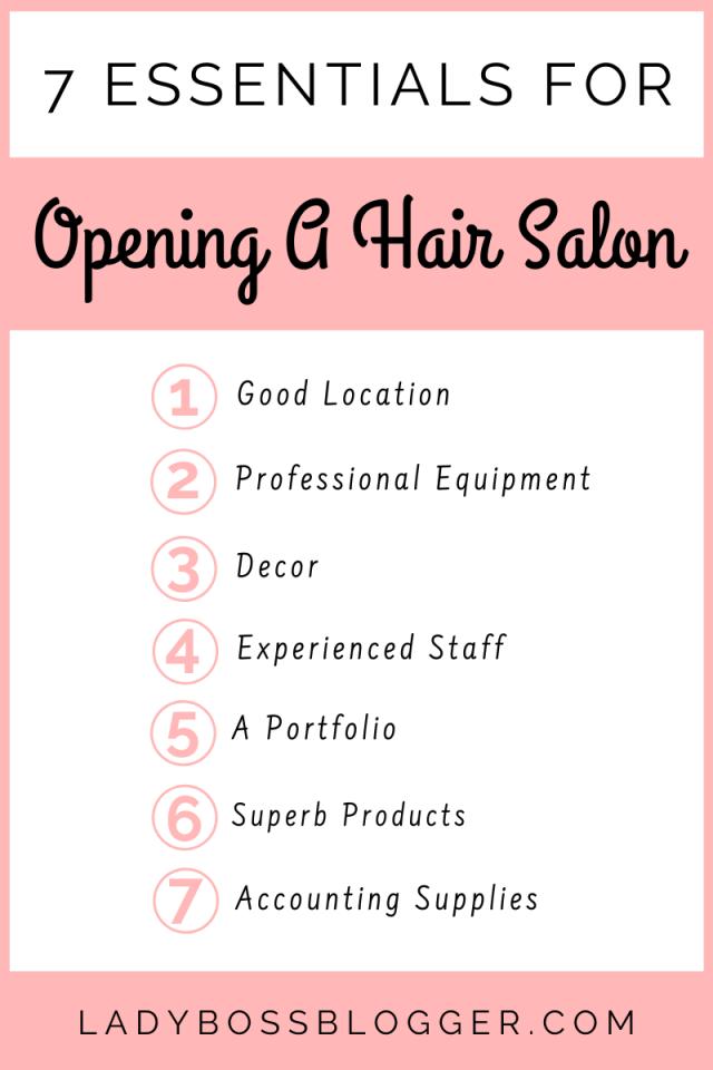 7 Essentials For Opening A Hair Salon LadyBossBlogger.com