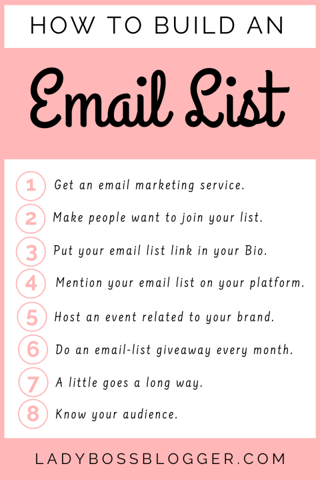How To Build An Email List ladybossblogger.com