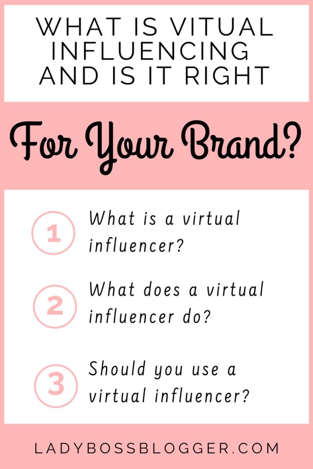 Virtual Influencer ladybossblogger.com