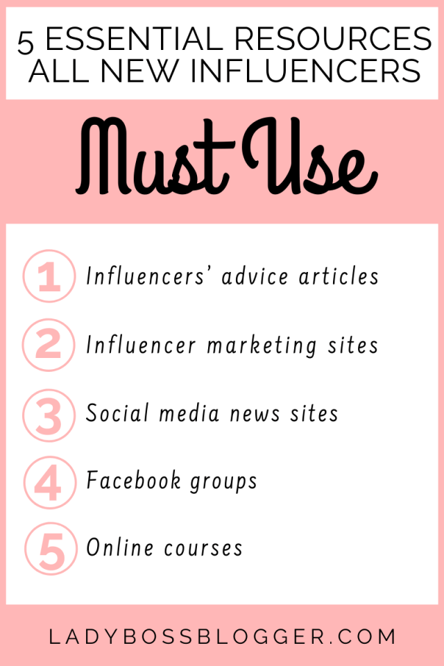 5 Essential Resources All New Influencers Must Use ladybossblogger.com