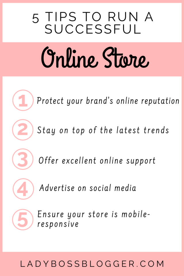 5 Tips To Run A Successful Online Store ladybossblogger.com