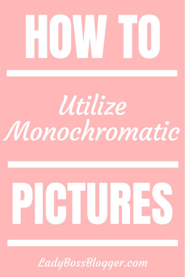 utilize monochromatic pictures ladybossblogger.com