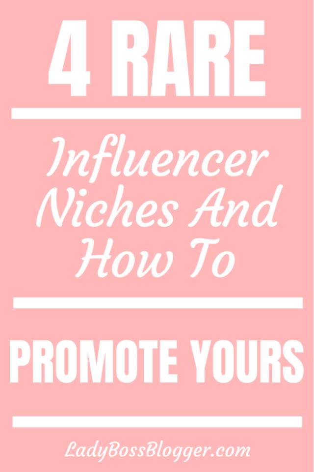 rare influencer niches ladybossblogger.com