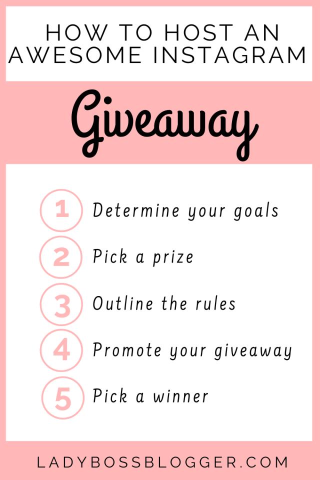 Instagram giveaway LadyBossBlogger
