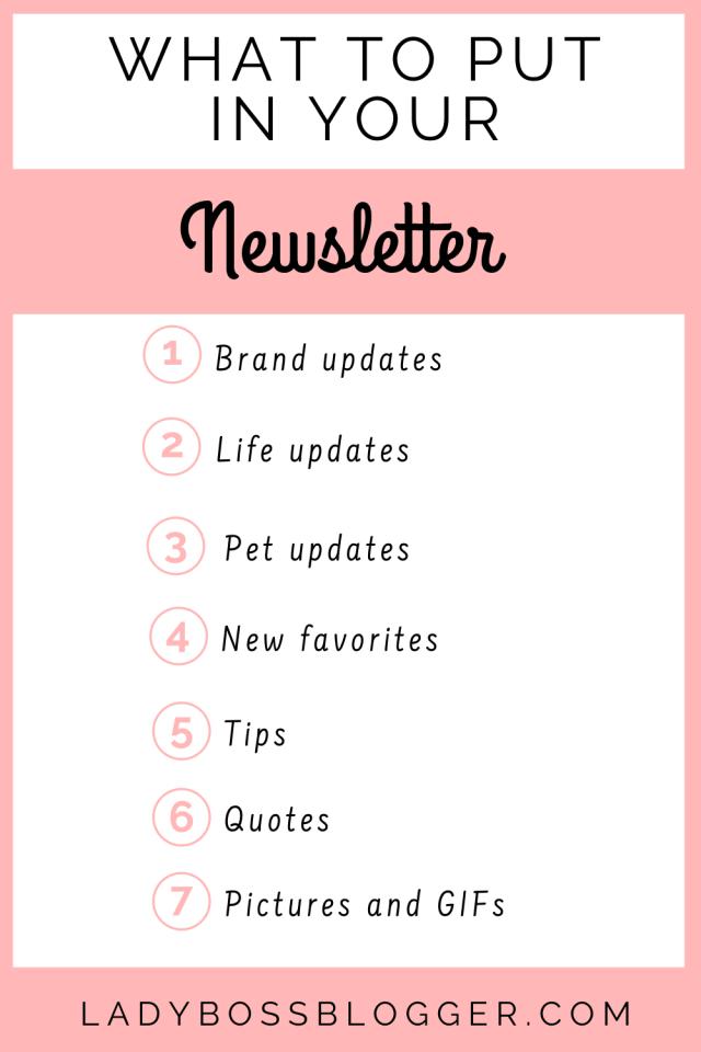 starting a newsletter