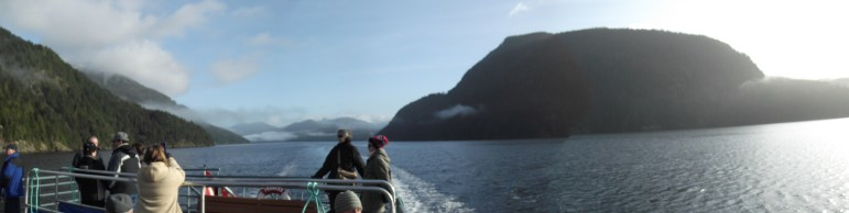 Looking back through the narrowest part of the Alberni inlet.