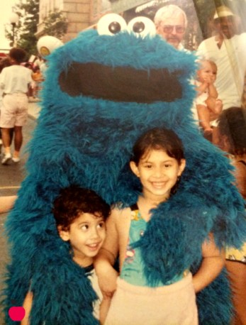 Sesame Place Diana Andres and Cookie Monster