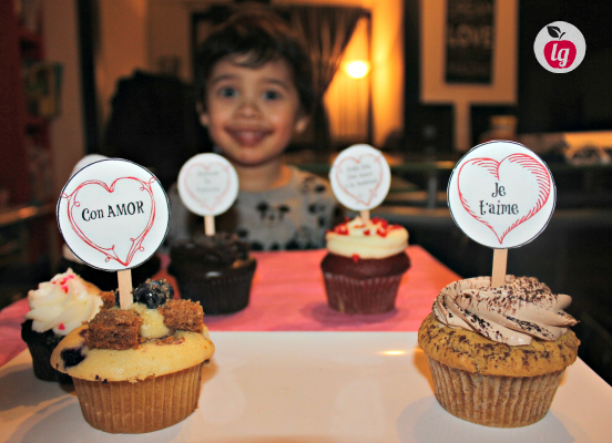 ENzo with cupcakes