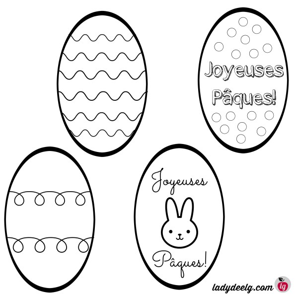 Easter Egg French printables