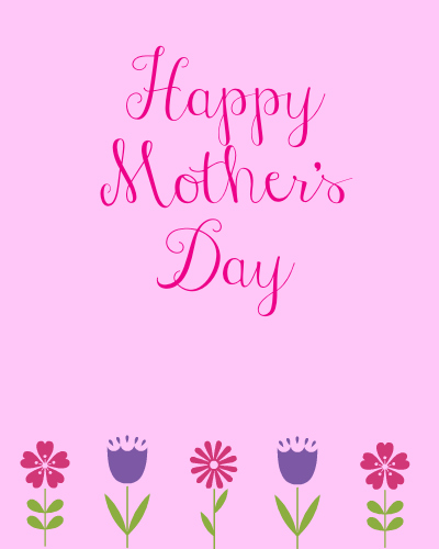 Free Printable Mother's Day Cards in English