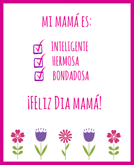 Printable Mothers Day Cards For: Free Printable Mother's Day Cards In Spanish And English