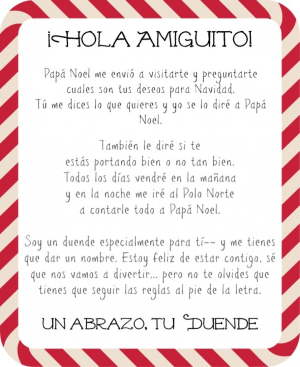 How To Introduce Elf On The Shelf In Spanish Free Letter