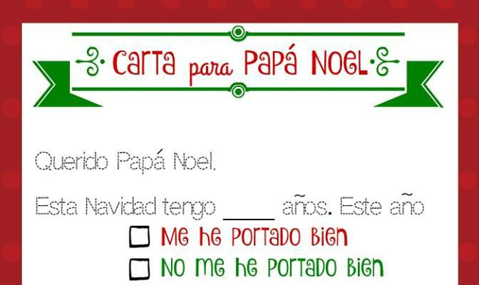 Imprime gratis ¡Una carta para Papá Noel! - LadydeeLG