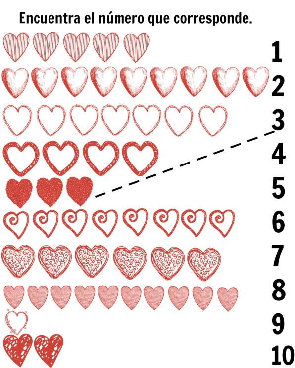 Spanish-hearts-matching-printables