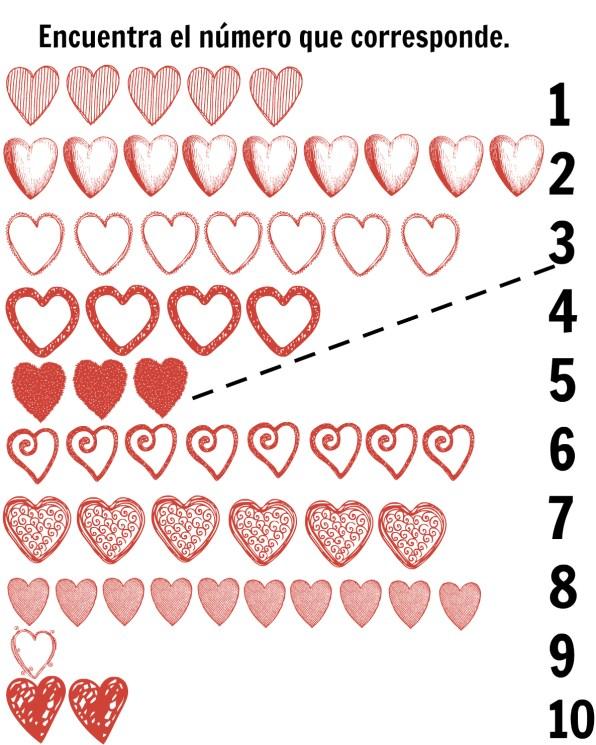 Spanish-hearts-matching-printables