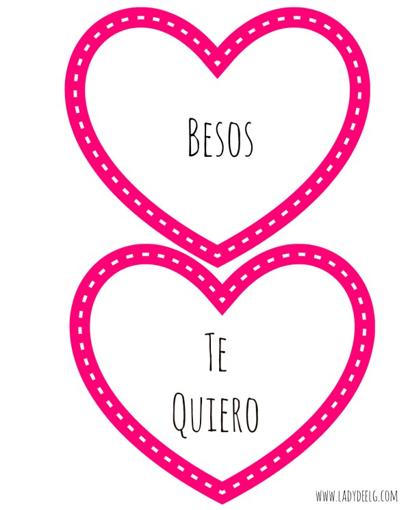 All about Hearts Valentines Day Cards in Spanish LadydeeLG – Valentines Cards in Spanish