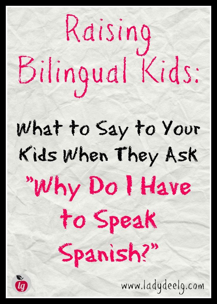 Why do I have to speak Spanish