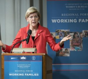 Elizabeth Warren's struggles in childcare