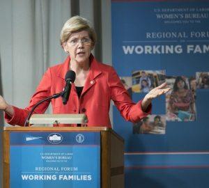 Elizabeth Warren's struggles in childcare