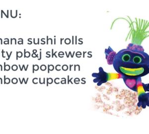 trolls snacks menu