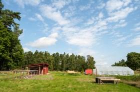 Zadní část farmy
