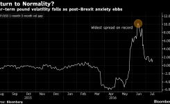 Pound Shows Signs of Calm as Post-Brexit Volatility Fades