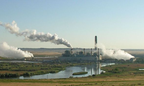 Coal power plants contribute to air pollution.