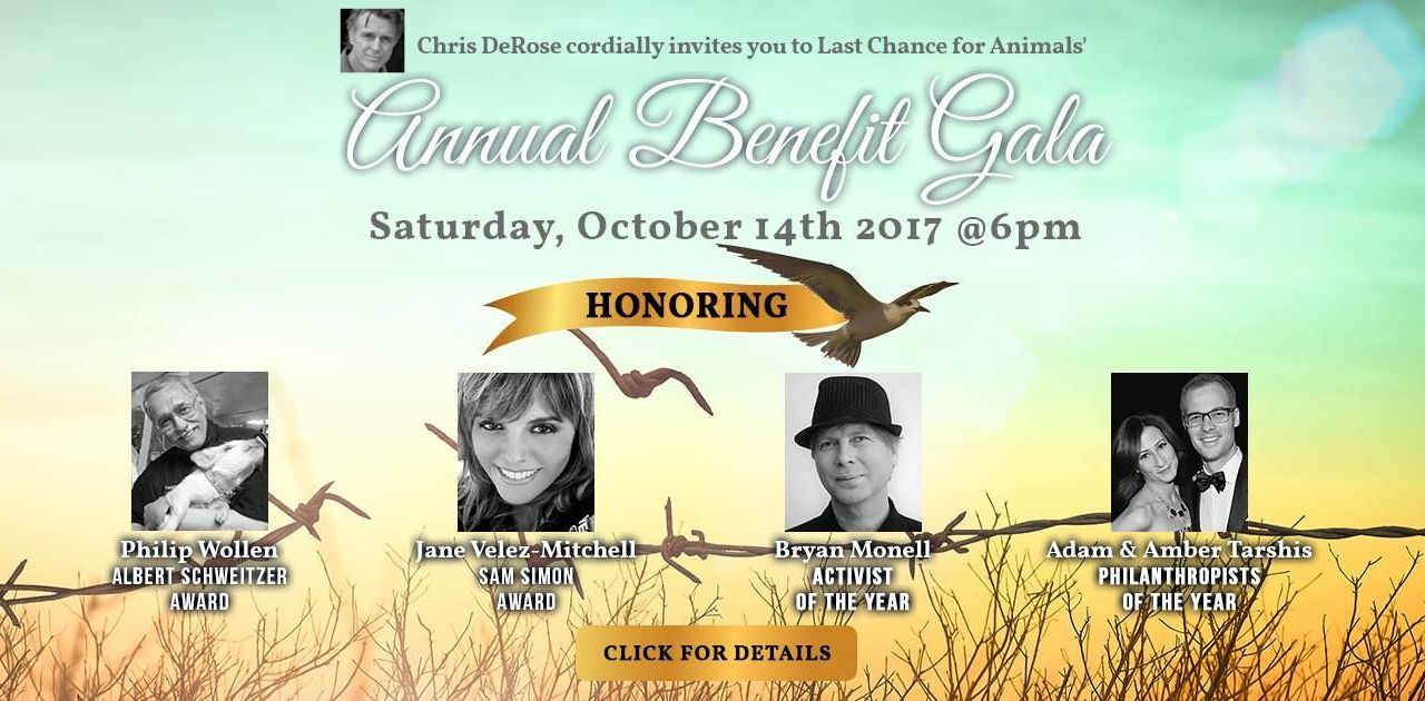 Hollywood Stars and Activists Show their Compassion at Last Chance for Animals Benefit Gala