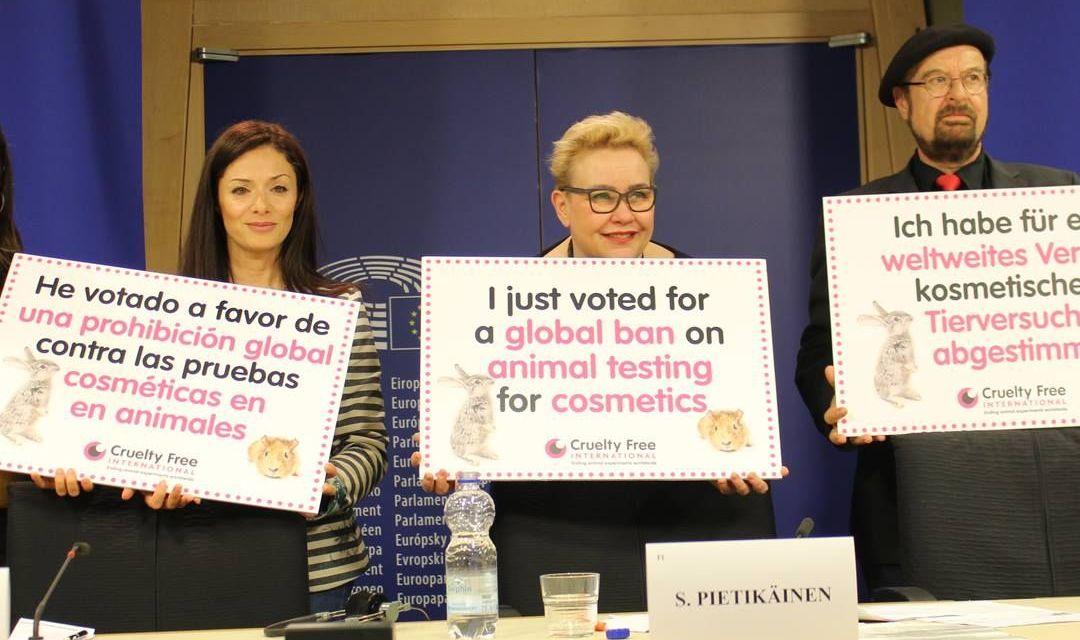 EU Parliament Passes Resolution for Worldwide Ban On Animal Cosmetics Testing