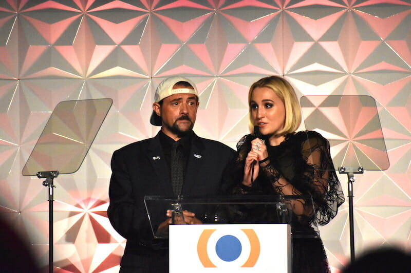 Filmmaker Kevin Smith and actress Harley Quinn Smith