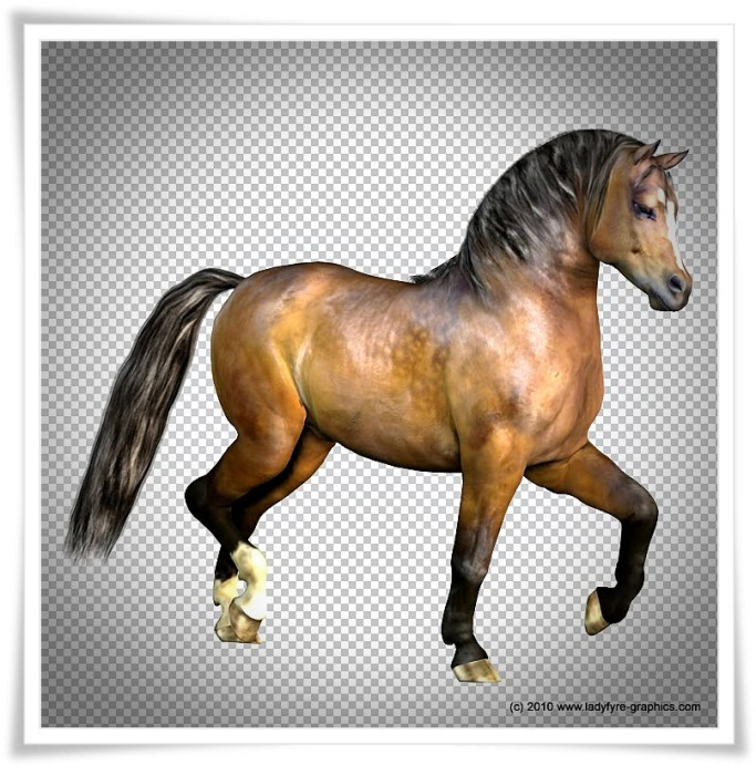 Glossy bay texture for the Millennium Horse (MilHorse)