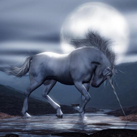 Unicorn Moon Poser and Vue Unicorn Render