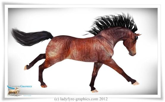 Tiger texture for the Daz 3d Millennium Horse and the Daz Horse 2