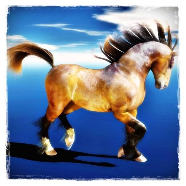 Daz Mil Horse with Dynamic Hair