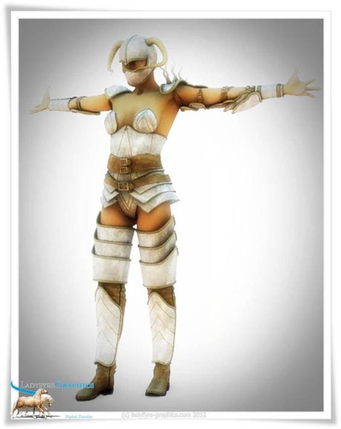 totally impractical female armour Poser Daz Studio 3d render