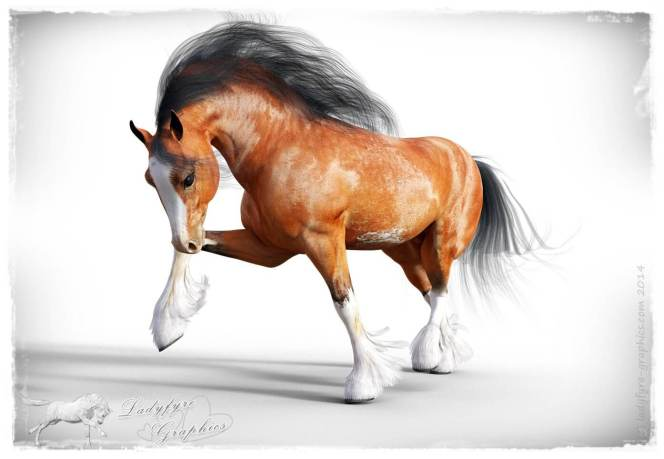 My own sabino bay texture for the Hivewire 3d Horse