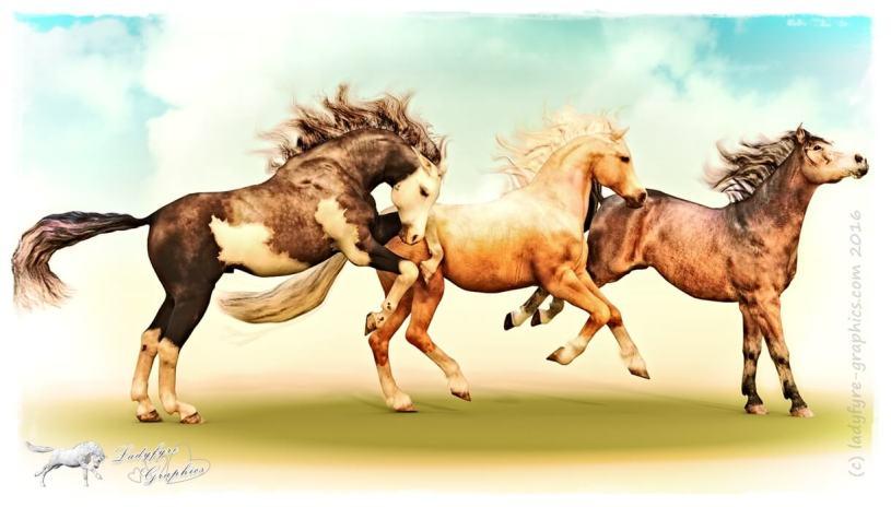 Lifelike poses for the Daz 3d Millennium Horse poses (MilHorse)