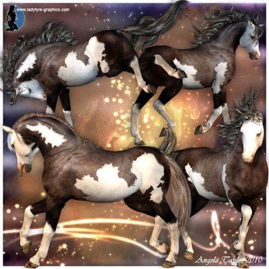 Scout Paint Horse Texture for the Daz 3d Millennium Horse 3d horse model
